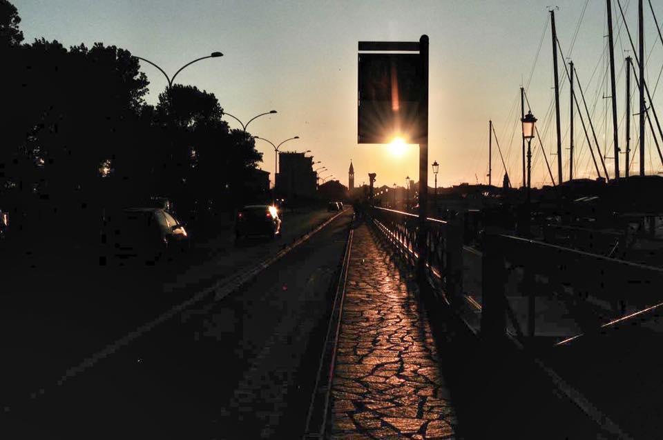Chioggia, Venedig, Abend, Sonnenuntergang, Brücke, Hafen